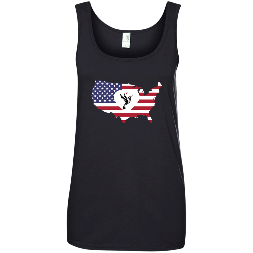 America Loves Hummingbirds Tank Top