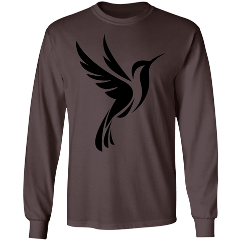 Image of Hummingbird Spot Logo Men's  LS Ultra Cotton T-Shirt