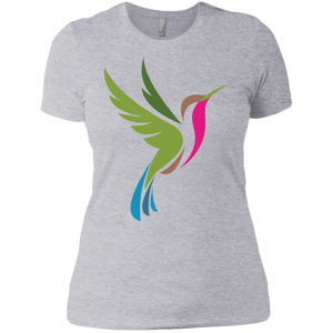 Hummingbird Spot Color Logo Ladies' Boyfriend T-Shirt