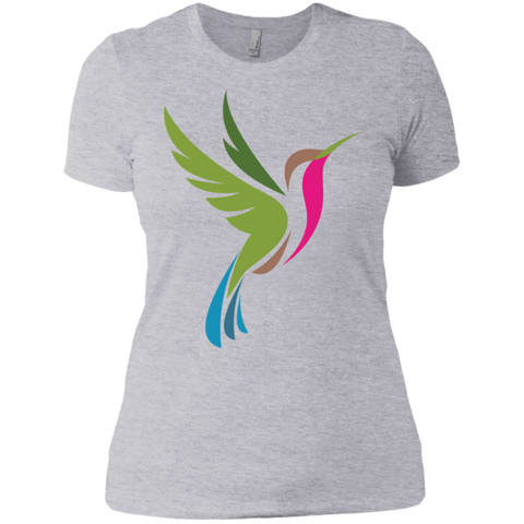 Image of Hummingbird Spot Color Logo Ladies' Boyfriend T-Shirt