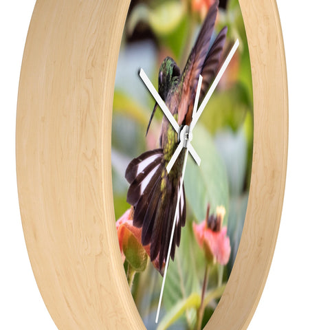 Image of Stripe-tailed Hummingbird Wall clock