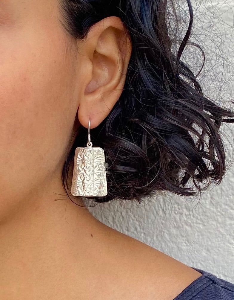 Yazzie Silver Earrings - B.YELLOWTAIL