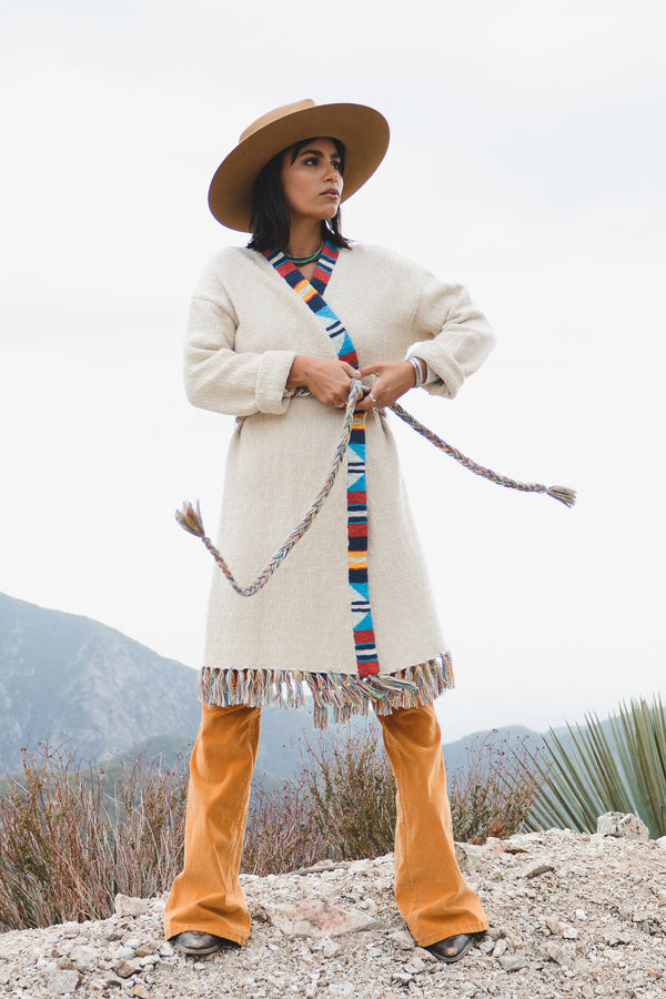 Crow Stripes Duster - B.YELLOWTAIL
