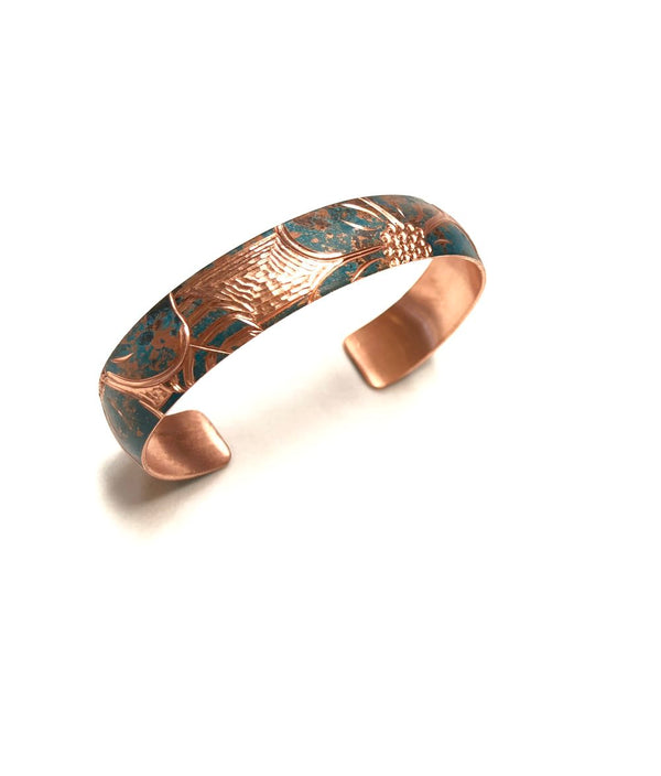 WILD ROSE COPPER BANGLE