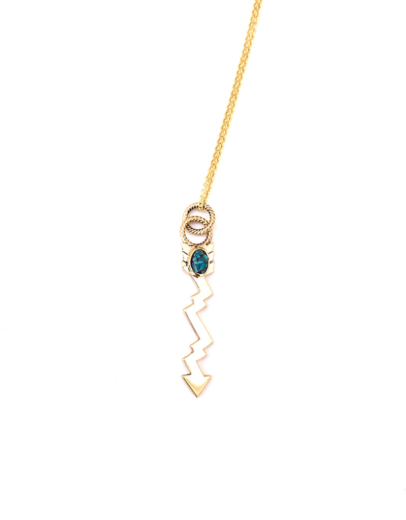 Lightning Strikes Turquoise Necklace Pendant - B.YELLOWTAIL