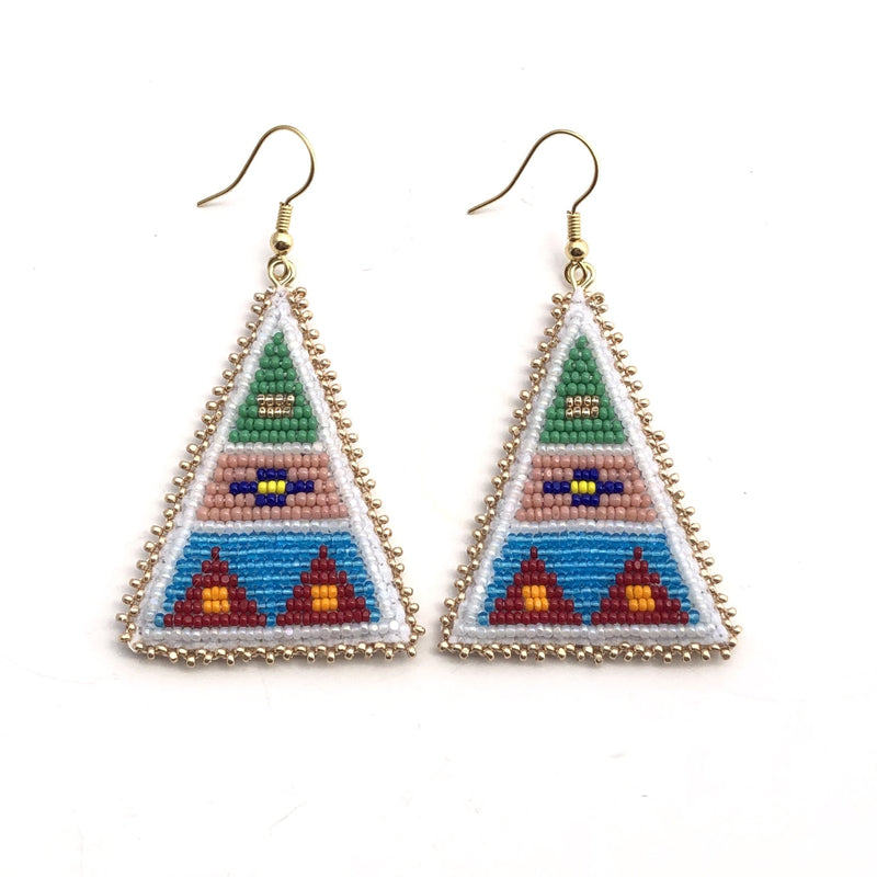 Shield Triangle Drop Earrings - B.YELLOWTAIL