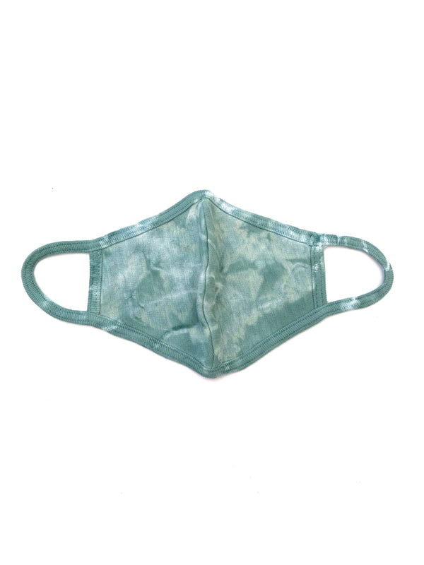 Tie-Dye Cotton Face Mask - Sage - B.YELLOWTAIL