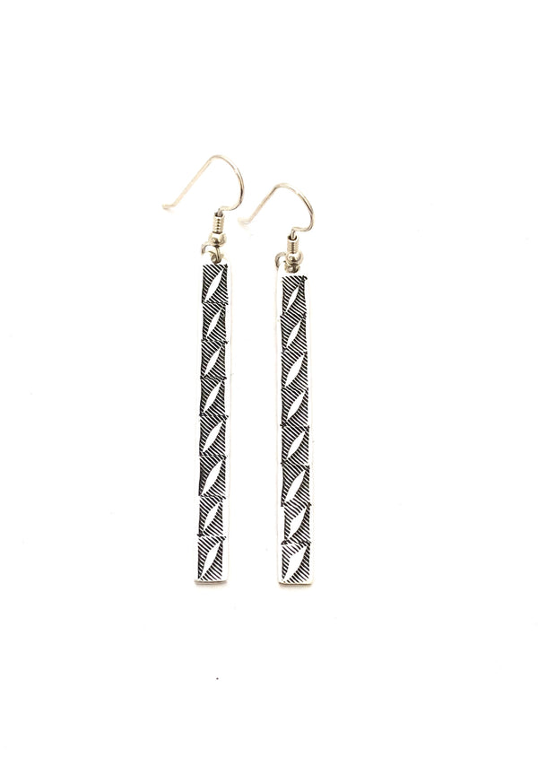 Acoma Feather Earrings - B.YELLOWTAIL