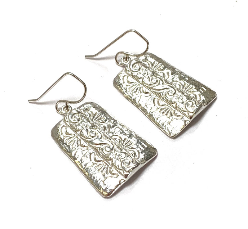 Yazzie Stamped Leather Earrings - B.YELLOWTAIL