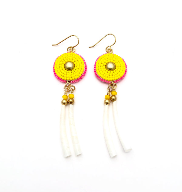 Ochanku Earrings - Amarillo