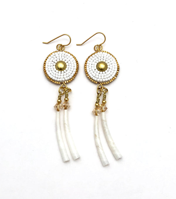 Ochanku Earrings - Blanco