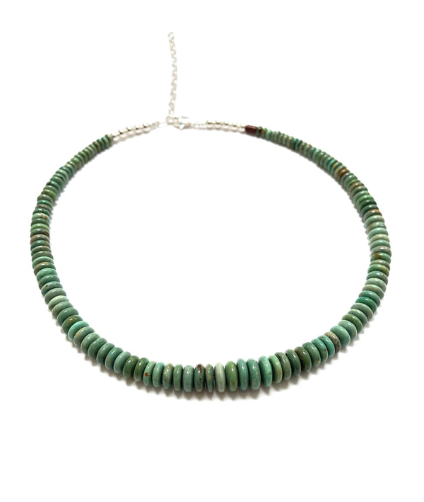 Kingman Green Turquoise Tapered Necklace - B.YELLOWTAIL