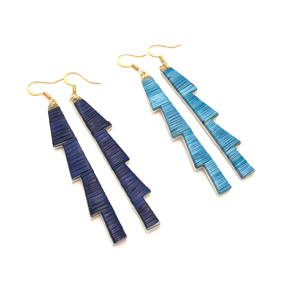 Big Mountain Ridge Earrings - Clear Lake Series