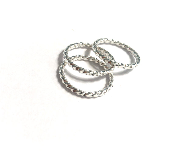 Silver Twist Ring-1.5mm
