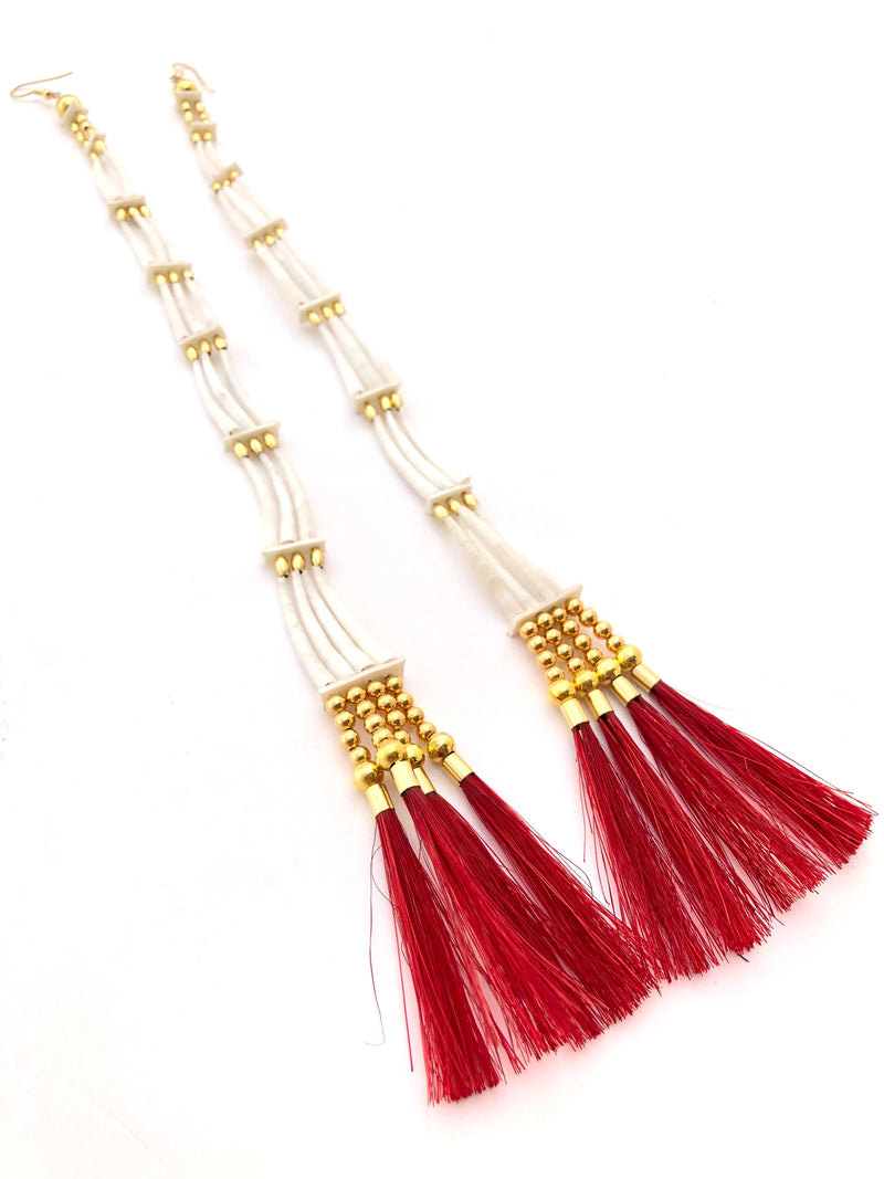 Goodwill Jingle Dentaliums-Red or Orange Tassel - B.YELLOWTAIL