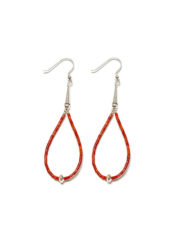 Heishi Coral Earrings - B.YELLOWTAIL