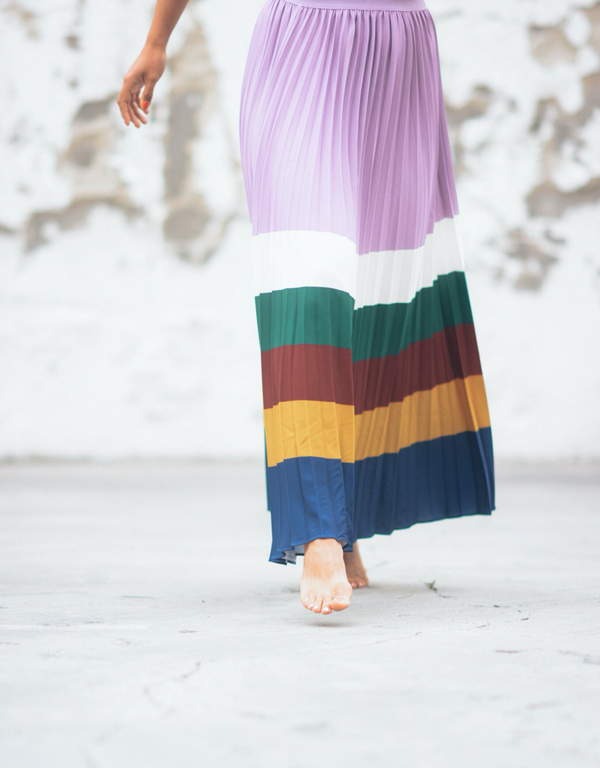 Janine Pleated Maxi Skirt