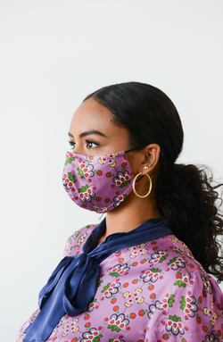 Lavendar Floral cloth mask - B.YELLOWTAIL