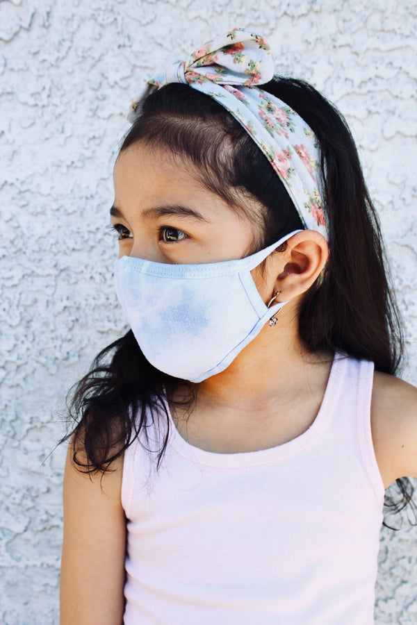 Tie-Dye Cotton Face Mask - Sky Blue - B.YELLOWTAIL