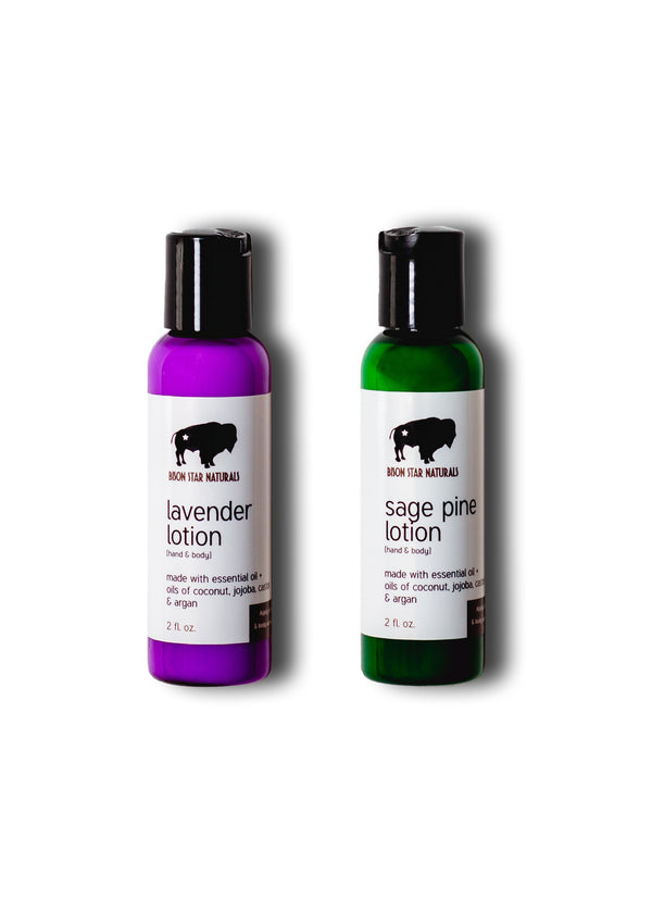 Bison Star lotion travel duo