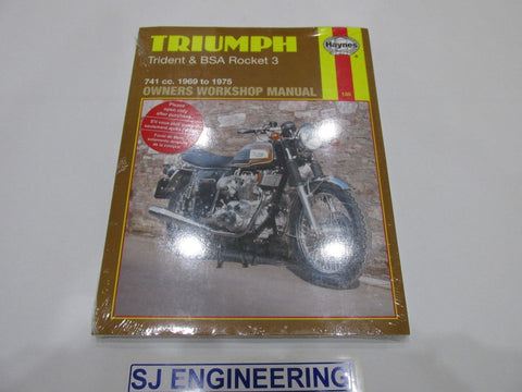 TRIUMPH TRIDENT BSA ROCKET 3 A75 1969-1975 Haynes Manual