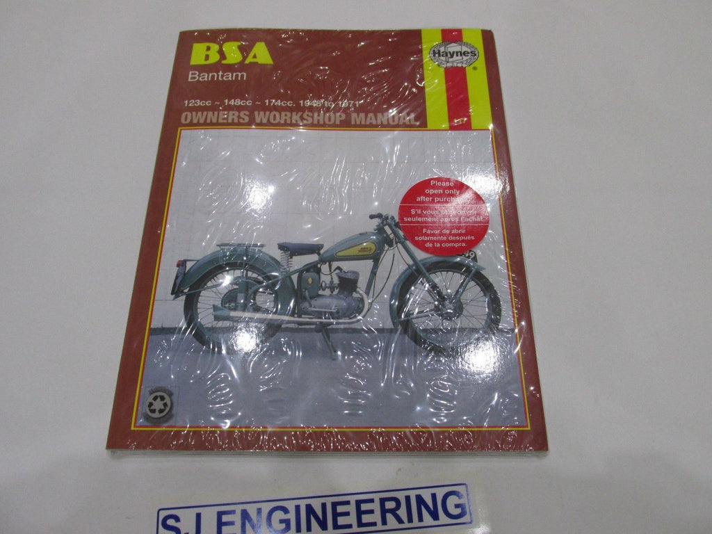 BSA BANTAM D1 D3 D5 D7 D10 D14 TRIALS Haynes Workshop Manual
