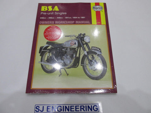 BSA Pre Unit Singles B31 B32 B33 B34 Haynes Workshop Manual