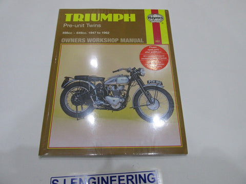 Triumph Pre-Unit Twins 5T 6T T110 T120 Tiger Haynes manual