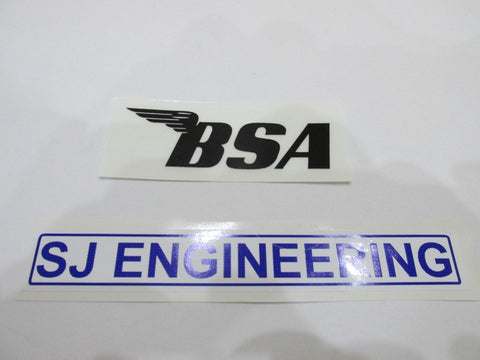 BSA TRANSFER STICKER DECAL BLACK UK MADE