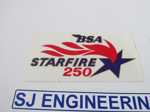 BSA STARFIRE 250 FLAME TRANSFER DECAL