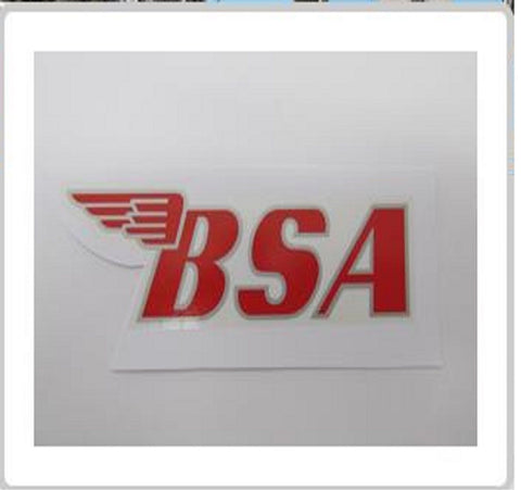 BSA TRANSFER STICKER DECAL RED GOLD