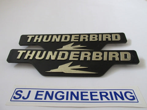 TRIUMPH 650cc THUNDERBIRD TR65 SIDE COVER PANEL BADGE 83-8191