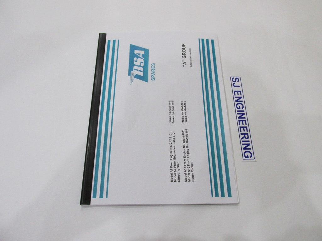 bsa a7 a10 super rocket shooting star spare parts list manual 00