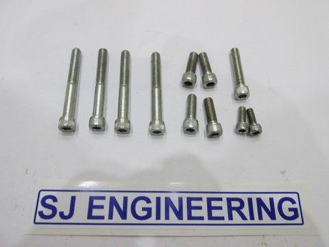BSA BANTAM D10 STAINLESS STEEL ENGINE ALLEN BOLT SCREW SET