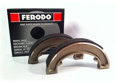 BSA C15 B40 FRONT & REAR BRAKE SHOES 40-5525 FERODO FSB918 PAIR