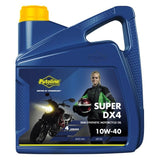 Putoline Super DX4 Semi Synthetic Motorcycle Oil 10W40 4 Stroke - 4 Litre