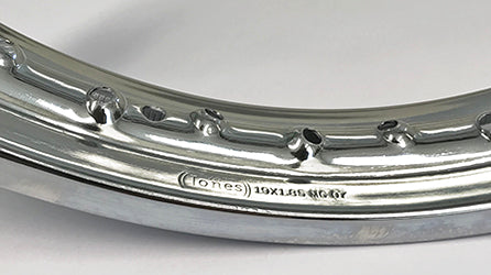 BSA B31 B32 B33 M20 M21 A7 A50 A10 A65 WM 2 REAR WHEEL CHROME PLATED QD 67-6005
