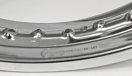 BSA A50 A65 WM 3 REAR WHEEL RIM CHROME PLATED QD 42-6371
