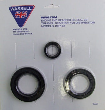 TRIUMPH 3TA 5TA T100 OIL SEAL KIT DISTRIBUTOR MODELS 1957-1963