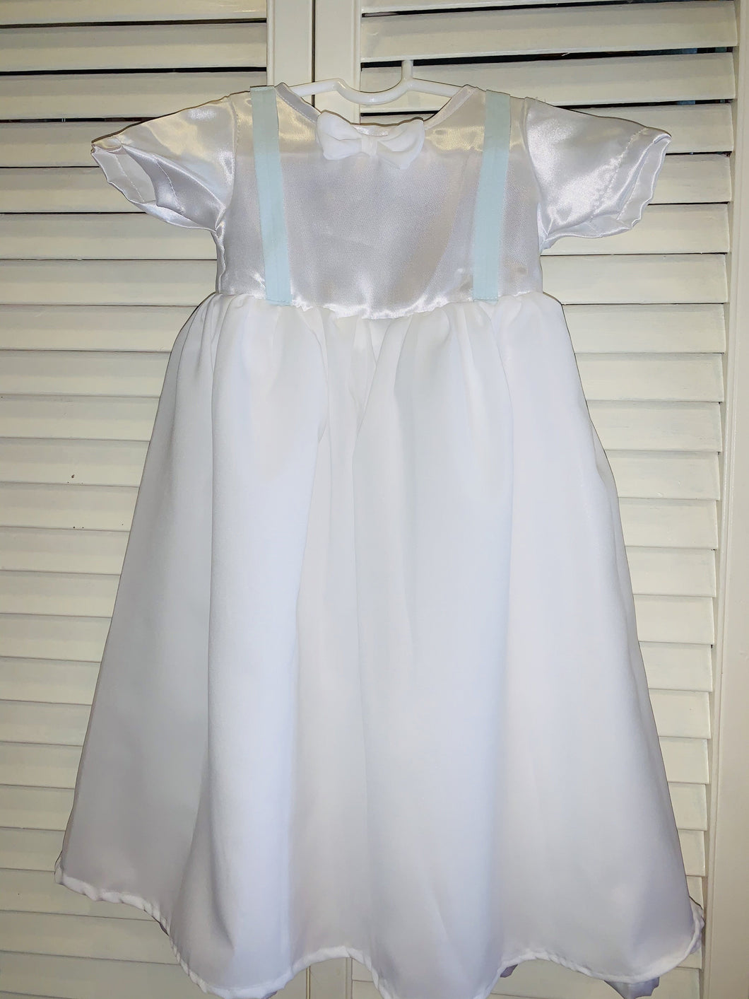 Baptismal Gown with Bow Tie and Suspender with Baby boy