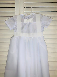 Baptismal Bow Tie Gown Baby Boy