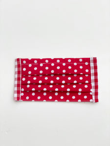 Rockin' Red Polka Dot Plaid Face Mask