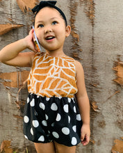 Load image into Gallery viewer, Izzy Romper Rust Polka Dot
