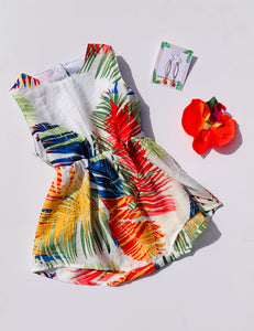 Izzy Romper Rainbow Tropical