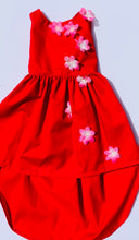 Load image into Gallery viewer, Rhylie Dress Red HI/LOW
