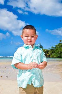 Matua Button Up Turquoise Geo Edition