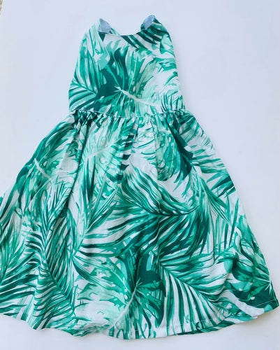 Rhylie Dress Green Palms
