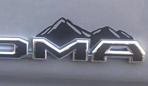 Premium Cast Matte Black Vinyl Mountain Decals for 2016-2020 Tacoma TVD Vinyl Decals