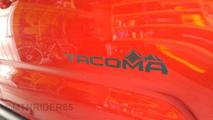 Premium Matte Black Vinyl Door Emblem Replacement Decals for Toyota Tacoma - TVD Vinyl Decals