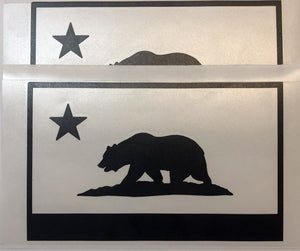 State Flag Decals - Premium Cast Matte Black Vinyl x2 TVD Vinyl Decals California